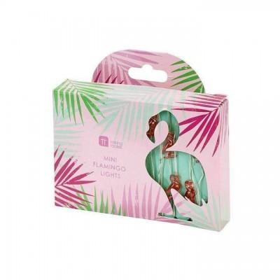 Luzes Flamingo Arame Prata