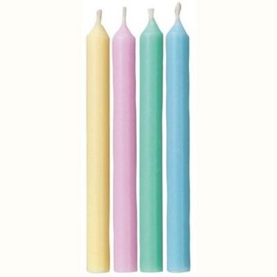 Velas cores pastel pk24