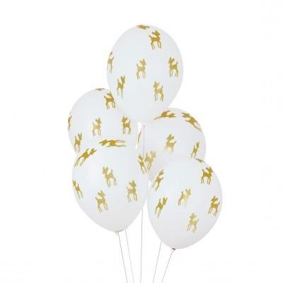 Balões Bambis Dourados, pk/5