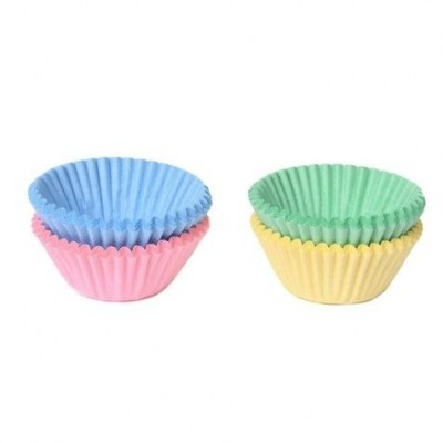 Formas Mini CupCake Pastel,pk/100