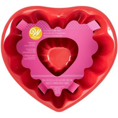 Forma Coração Fluted, 20cm