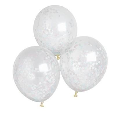 Balões Transparentes - Unisexo Confetti, pk/5
