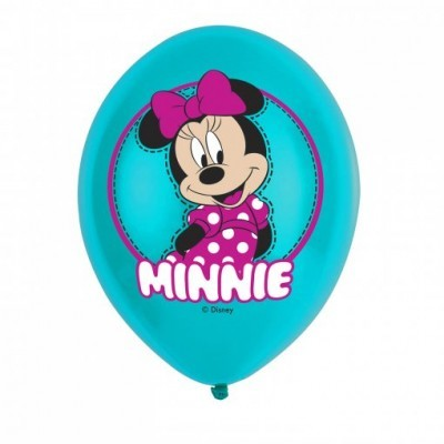 Balões Latex Minnie, Pk/6