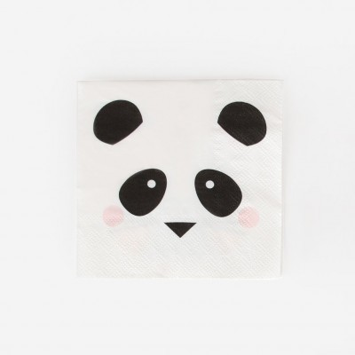 Guardanapos Mini Panda,pk/20