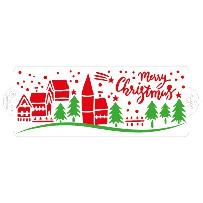 Stencil Christmas Landscape