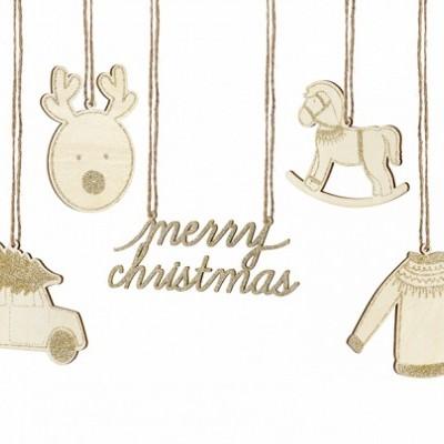 Decorações Pendurar Christmas Mix,pk/10