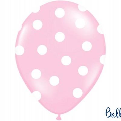Balões 30cm, Dots, Pastel Baby Pink,pk/6