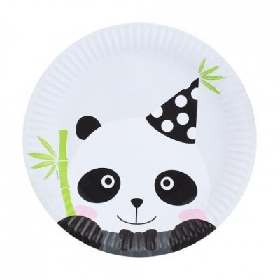 Pratos Panda 18cm