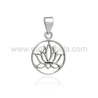 Pendente em Prata Flor de Lótus