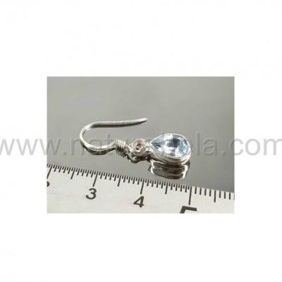 Brincos em prata de Topázio facetado