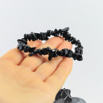 Pulseira Chip Turmalina Negra
