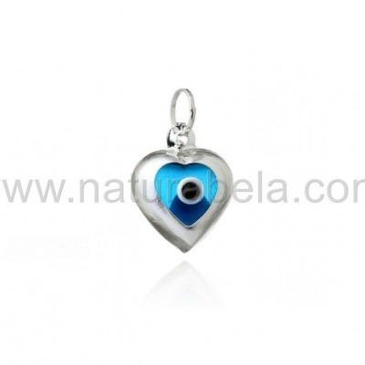 """Pendente Olho turco forma """"coração"""""""