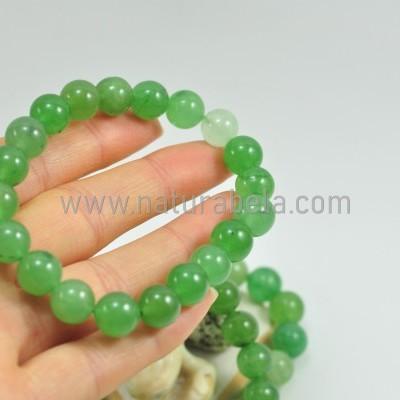 Pulseira de bolas de Jade Verde