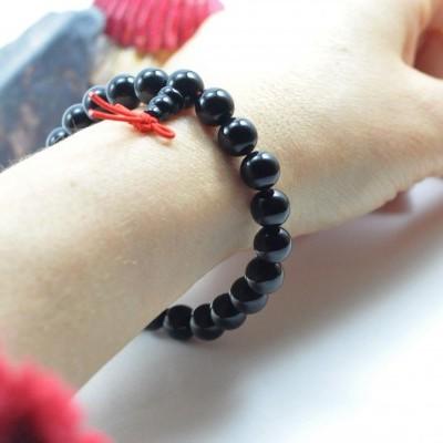 Pulseira Mala Tibetano de Ágata Negra