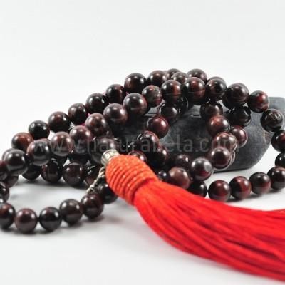 Mala Budista de Pedra Olho de Boi 8mm - Terço Tibetano OM