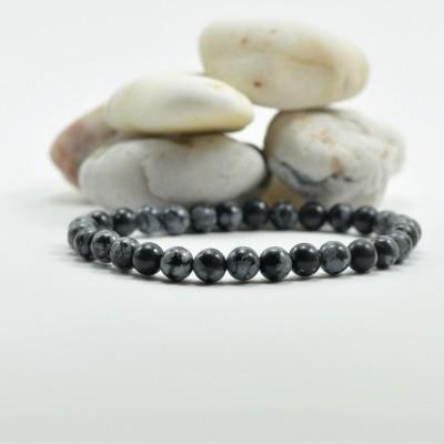 Pulseira de bolas Obsidiana Nevada