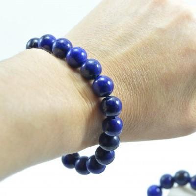 Pulseira de bolas Lapis-Lazuli
