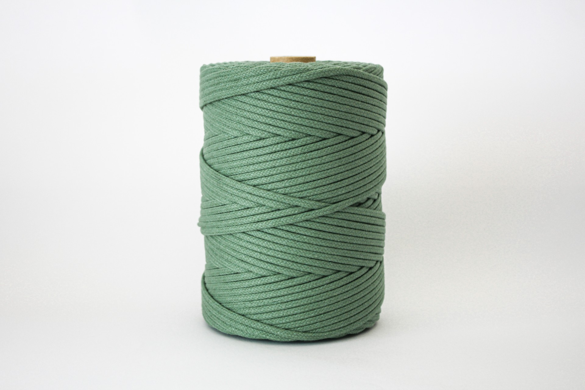 Fio Entrançado Algodão 4mm Verde Seco