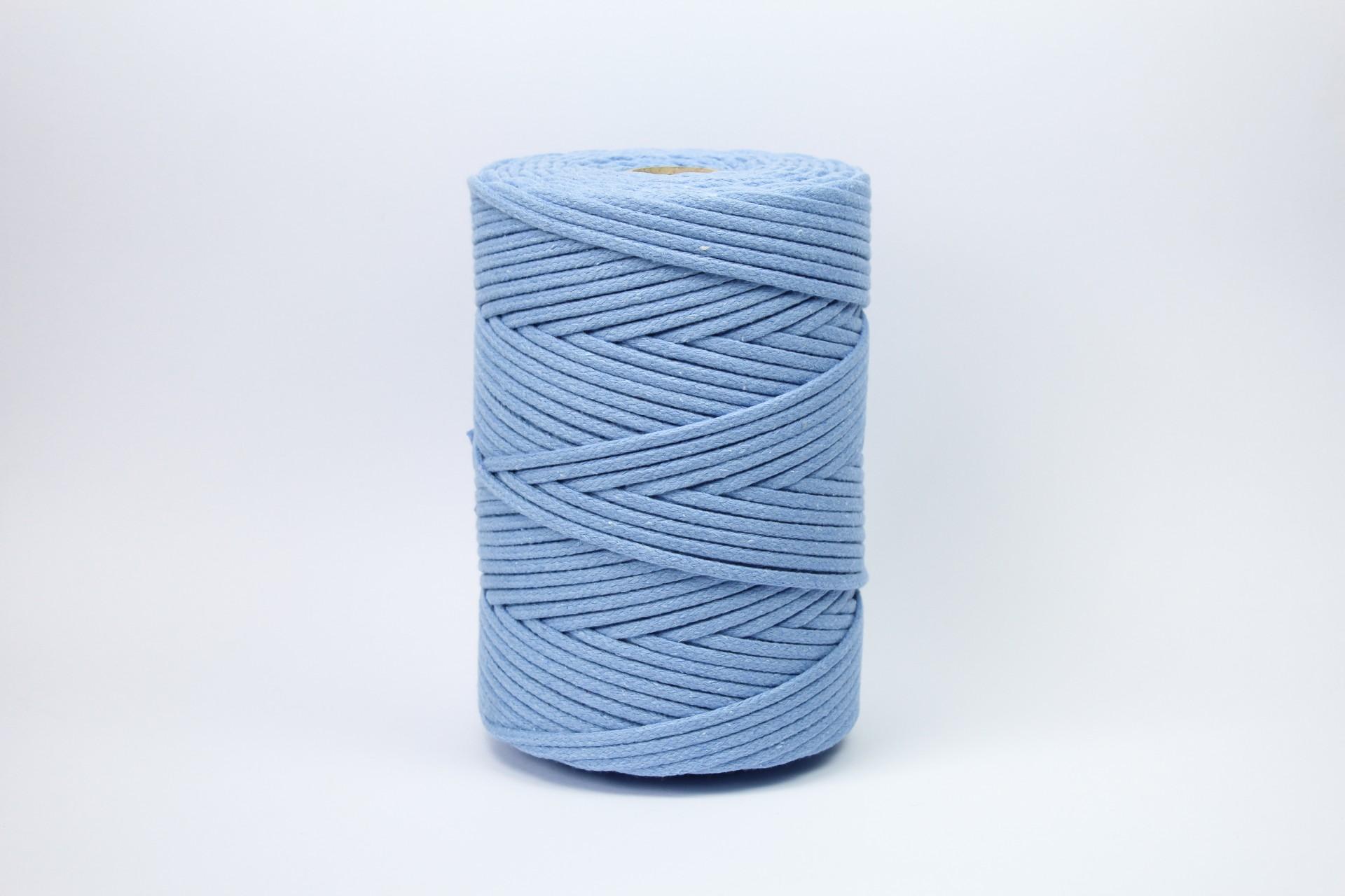 Fio Entrançado Algodão 4mm Azul Pastel