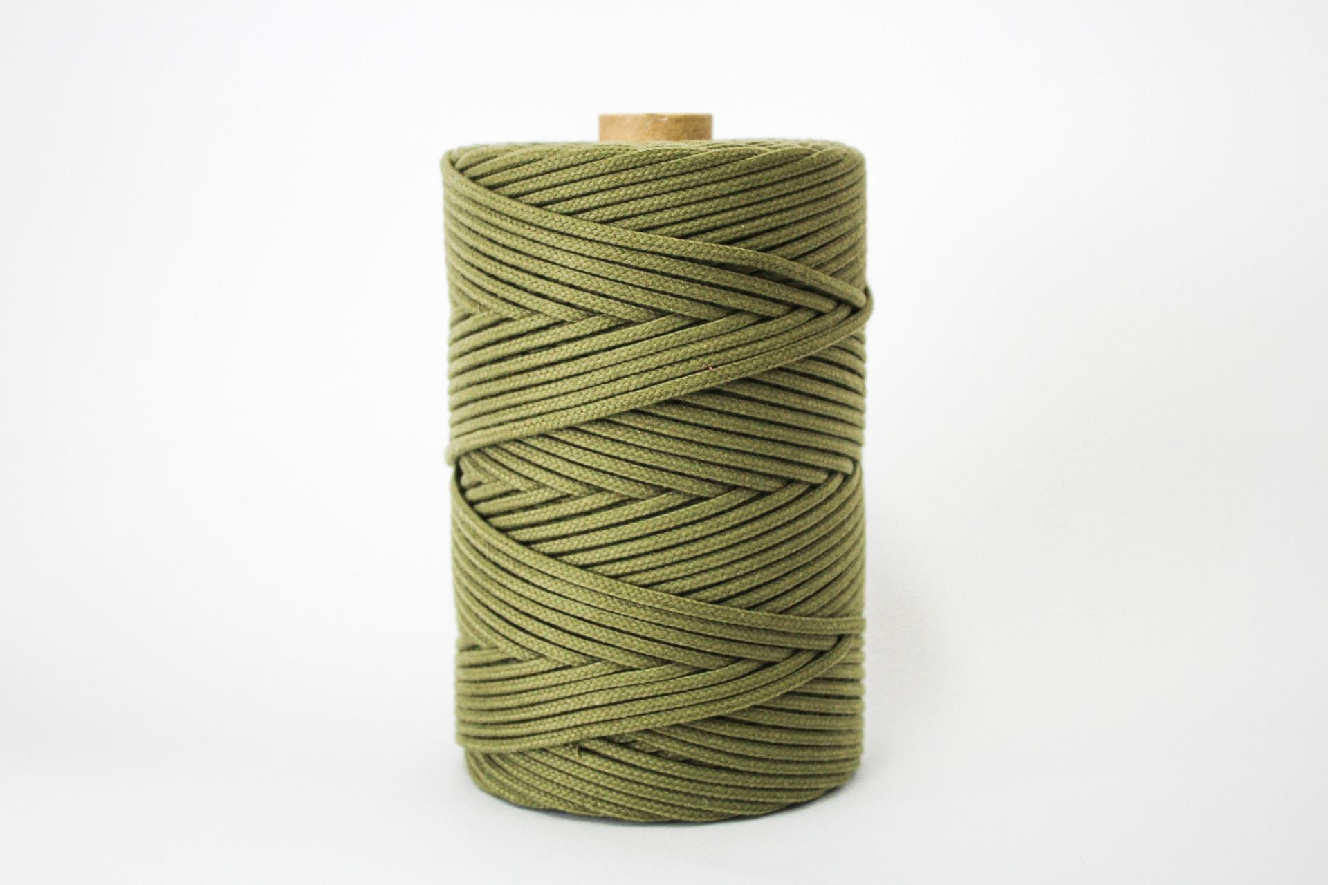 Fio Entrançado Algodão 4mm Verde Azeitona