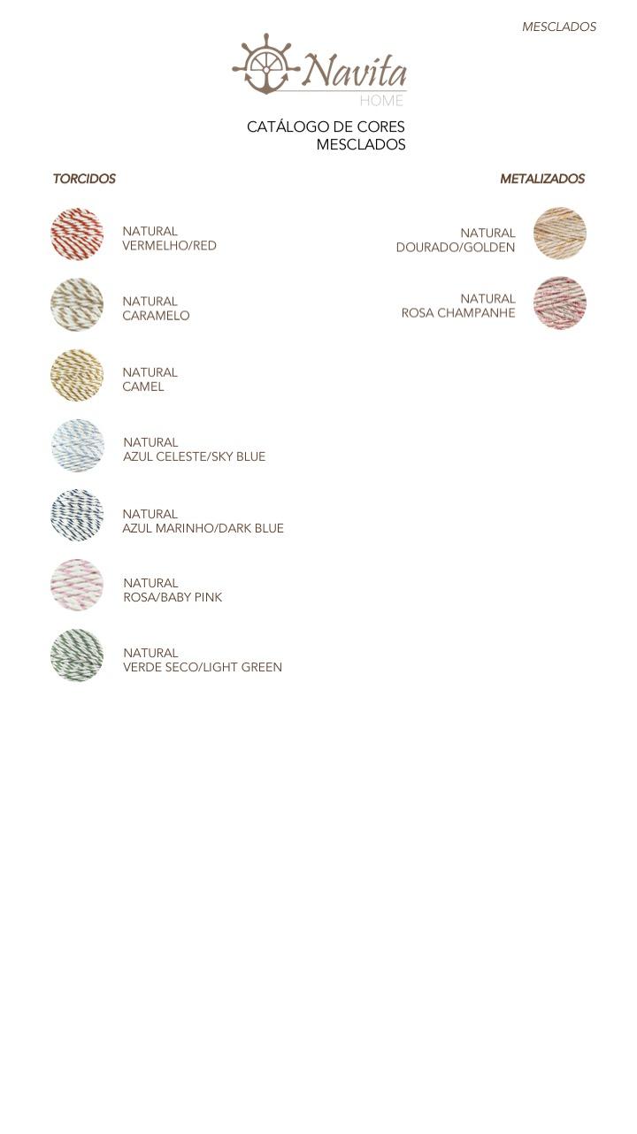 Catálogo cores fio algodão mesclados