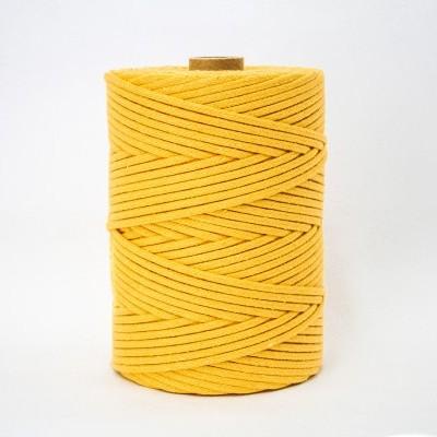 Fio Entrançado Algodão 4mm Amarelo