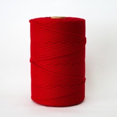 Fio Entrançado Algodão 4mm Vermelho