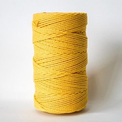 Fio Torcido Algodão 4mm Amarelo