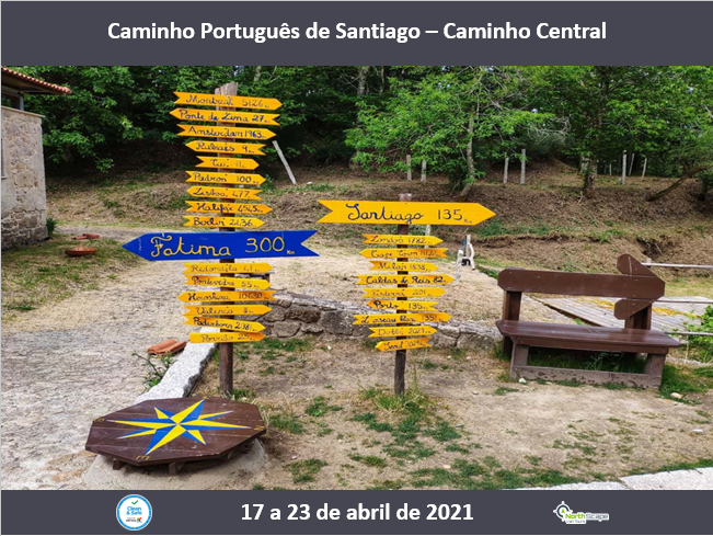 Caminho Português de Santiago - Caminho Central   Guias   Seguros  Transporte   Alojamento   Credencial