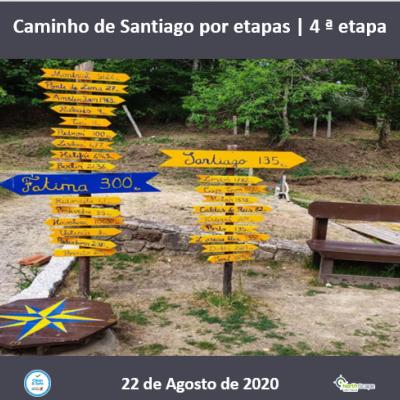 Caminho de Santiago por etapas - 4 ª etapa - Credencial | Guias | Seguro | Transporte