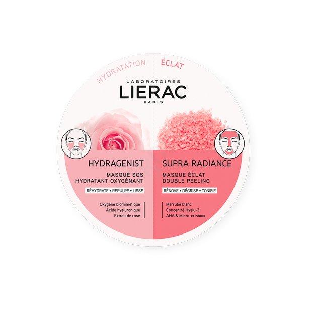 Lierac - Duo Mask Hydragenist + Supra Radiance 2x6mL