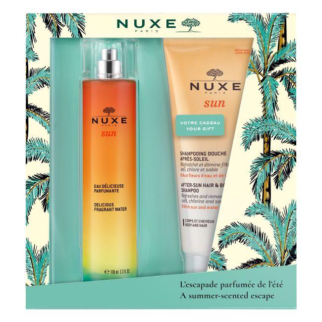 Nuxe -  Sun Coffret  Água Deliciosa Perfumada + Gel Duche Champô