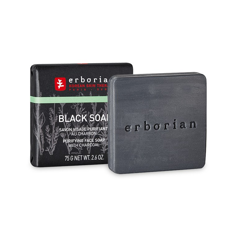Erborian - Black Soap. Sabonete de Carvão Purificante 75gr