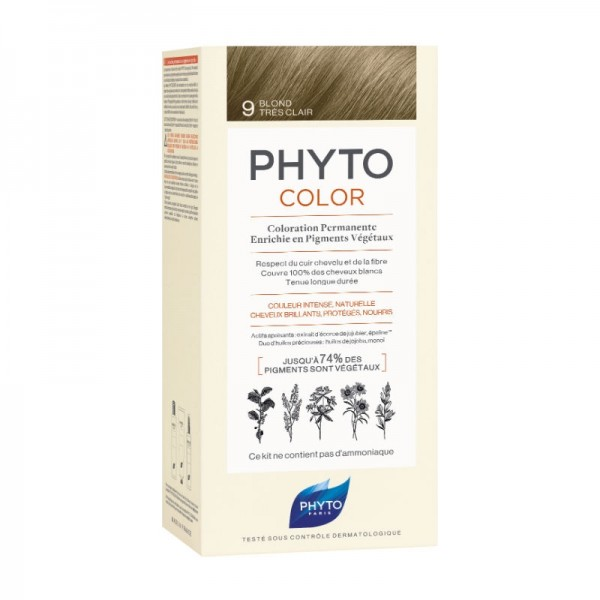 Phyto - Phytocolor Coloração Permanente 9 Louro Muito Claro