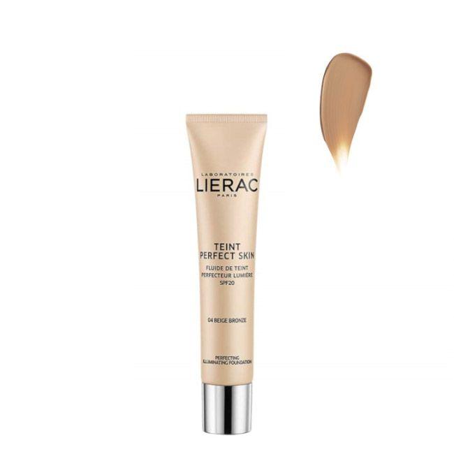 Lierac - Teint Perfect Skin Fluido Aperfeiçoador Luminosidade SPF20 04 Bege Bronze 30ml