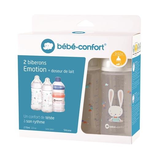 Bébéconfort - Conjunto 2 Biberões Emotion + Doseador de Leite em Pó