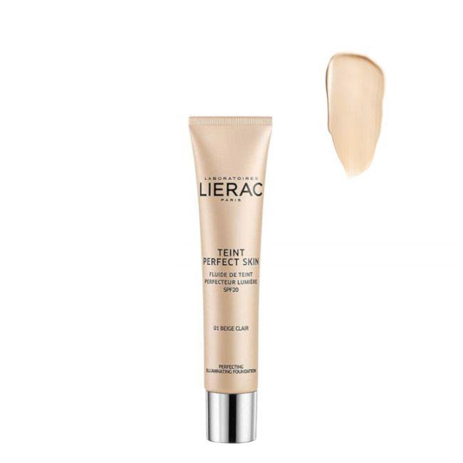 Lierac - Teint Perfect Skin Fluido Aperfeiçoador Luminosidade SPF20 01 Bege Claro 30ml