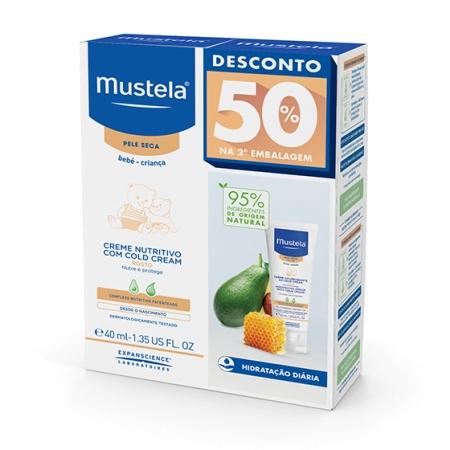 Mustela - Creme Nutritivo com Cold Cream Duo 2x40ml