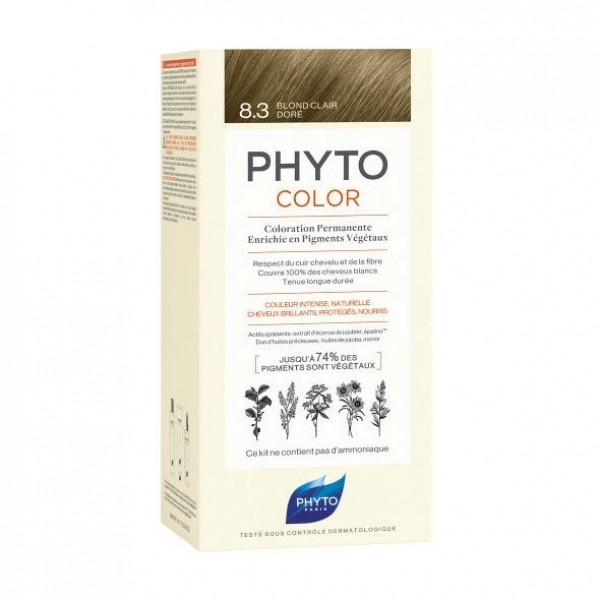 Phyto - Phytocolor Coloração Permanente 8.3 Louro Claro Dourado