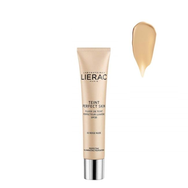 Lierac - Teint Perfect Skin Fluido Aperfeiçoador Luminosidade SPF20 02 Bege Nude 30ml