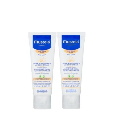 Mustela - Bebé Cold Cream Duo Creme Nutri-Protetor Rosto 2x40ml