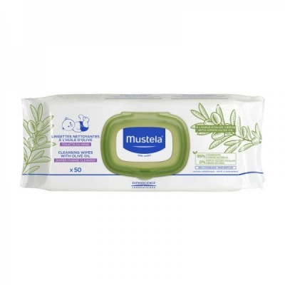 Mustela - Duo Toalhetes de Limpeza com Azeite 2x50 unid.