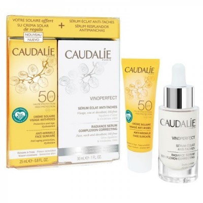 Caudalie - Coffret Vinoperfect  Sérum 30ml + Creme Solar Anti-Rugas SPF50 25ml