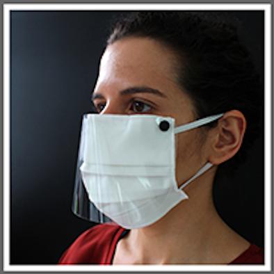Máscara Facial Lavável com Pala