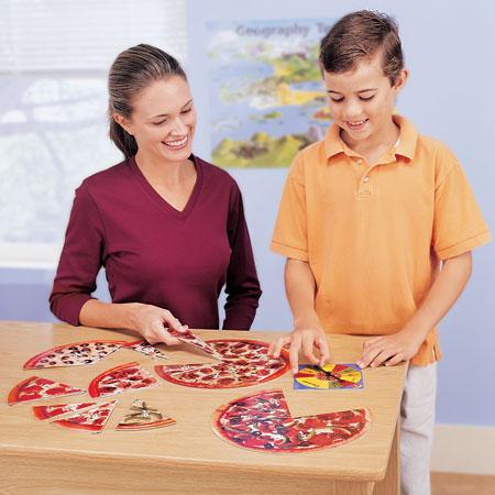 Frações de pizzas