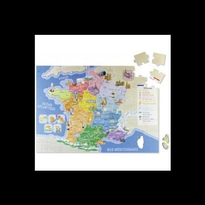 Puzzle em cartão - Mapa de França