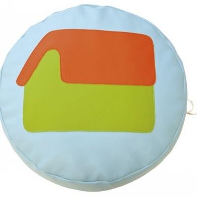 Almofada circular Casinha com 45x10cm