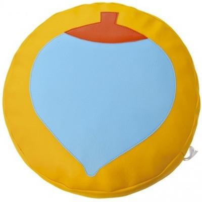 Almofada circular Pião com 45x10cm
