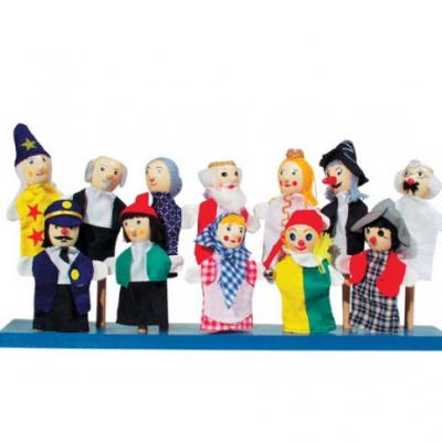 Conjunto de 12 marionetas de dedo