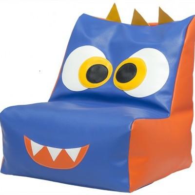 Puff sofá monstrinho Necas com 50x50x55cm